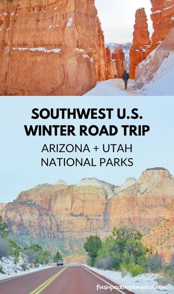 Arizona Utah National Parks 5 Day Winter Road Trip From Phoenix Grand Canyon Zion Bryce Canyon In 2020 Arizona National Parks Road Trip Arizona Travel