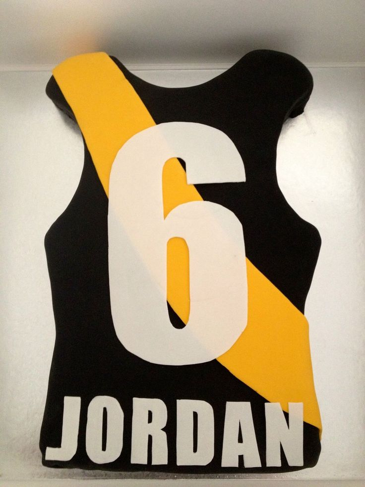 Afl jersey cake for 6th Birthday
