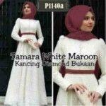 Baju Muslim Brokat Tamara White P1140a
