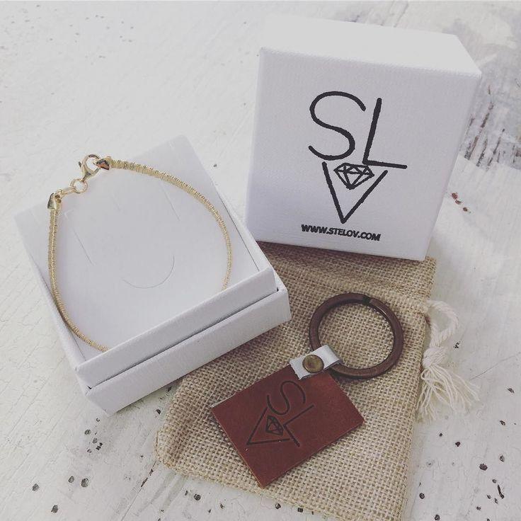 Ready to go!!! Yellow gold plated silver 925 bracelet #stelov #slv #wintersale #finalsale #silver #bracelet #keyring #leather #jewelry #accessories #shoponline #worldwideshipping