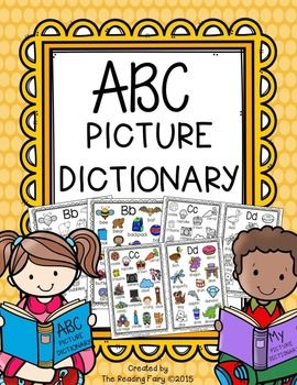 This alphabet picture dictionary contains 4-12 pictures to go with each letter of the alphabet, a color words page and an additional page to add your own words. The dictionary comes in a full size which is great to put in a binder or folder for a writing center or writing station.