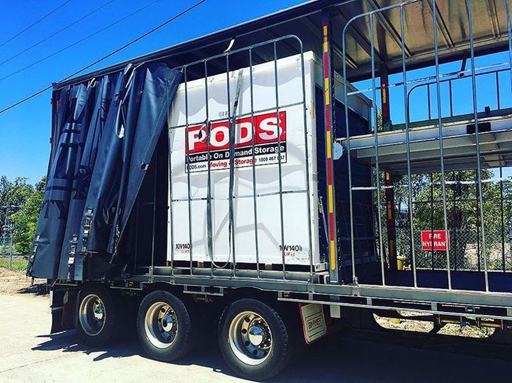 Another PODS container safely stowed away and headed for Adelaide from Brisbane. Safe travels! #podsmovingandstorage #podsadelaide #podsbrisbane