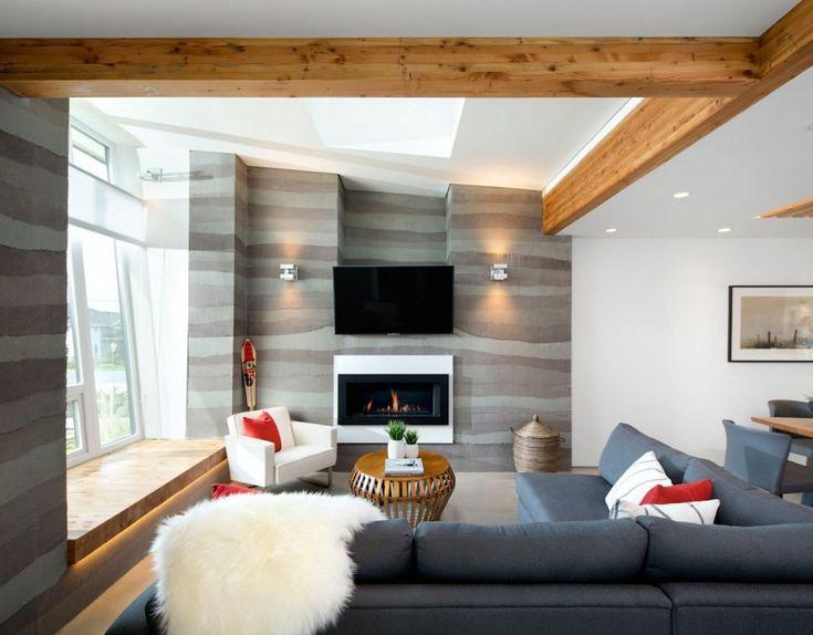 Moderne häuser innen wohnzimmer  Dachüberstand | Dach und Fassade Farben | Pinterest | Moderne ...