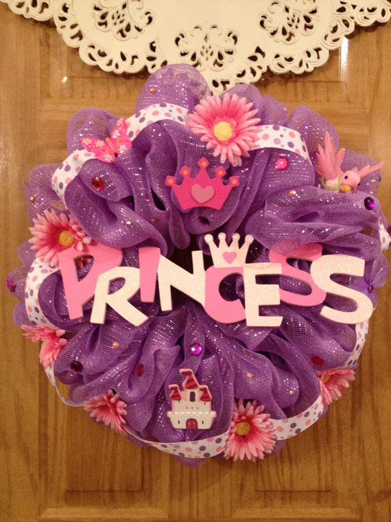 Hey, I found this really awesome Etsy listing at https://www.etsy.com/listing/162428546/deco-mesh-princess-wreath