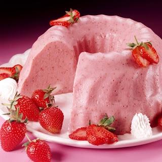 Gelatina de fresa y rompope