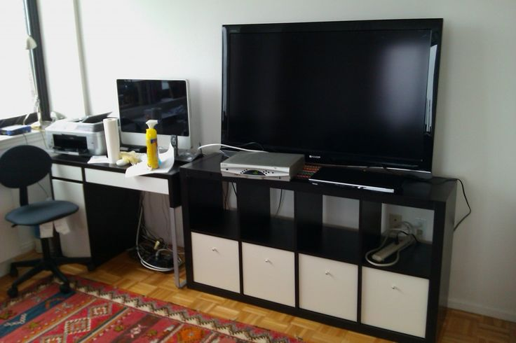 Ikea Godmorgon Tall Cabinet ~ Ikea EXPEDIT Entertainment Center  Expedit  Pinterest