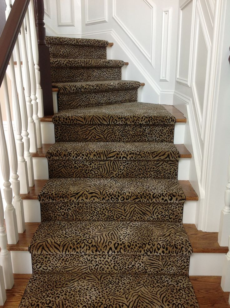 1000 images about stairs on pinterest carpets carpet for Leopard print carpet stair runner
