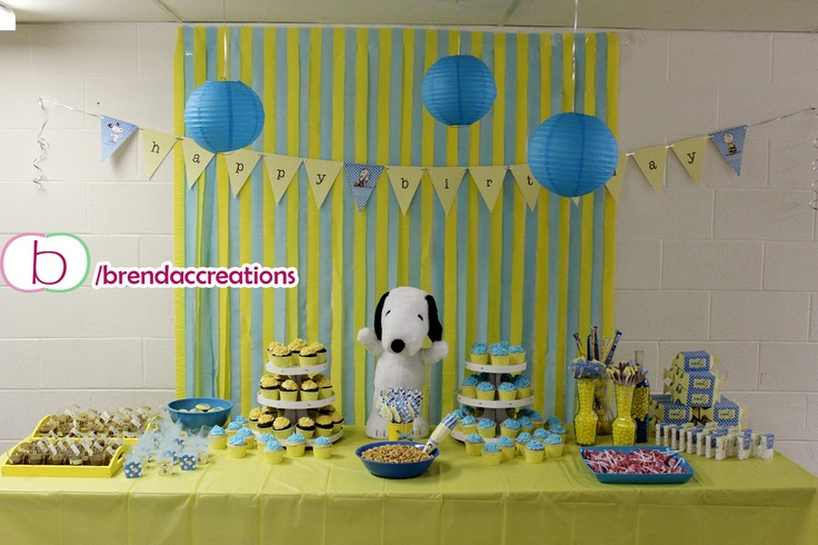 Charlie Brown / Snoopy Theme Party   By Www.facebook.com/brendaccreations |  Charlie Brown / Snoopy Party | Pinterest | Charlie Brown, Snoopy And Brown