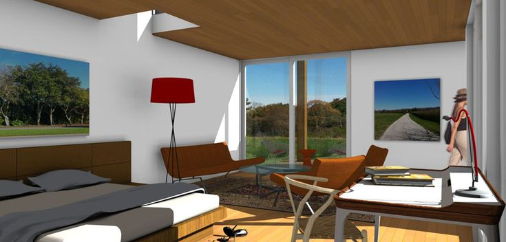 Master Bedroom of the ASAP•house L 2.6 modern prefab home