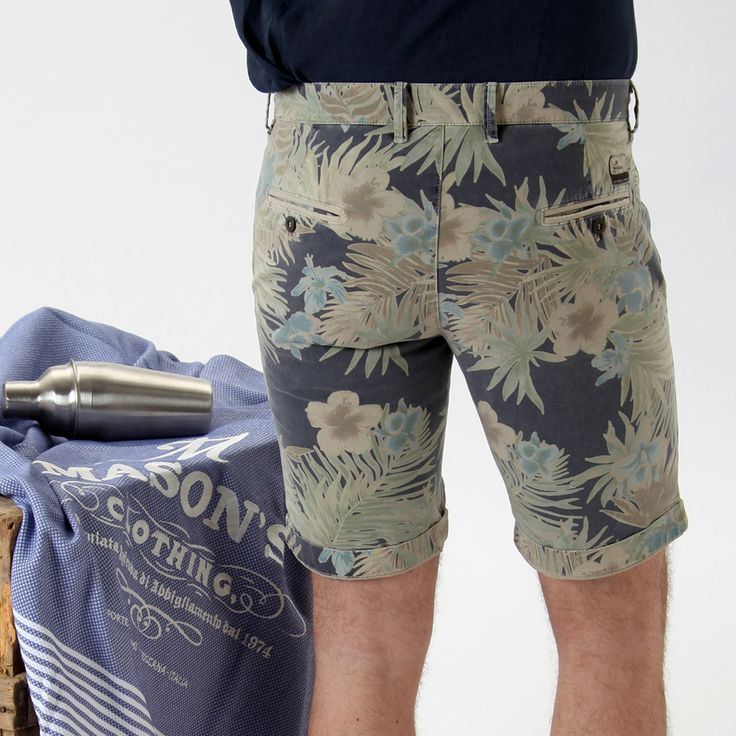 Pantalone #bermuda modello Washington con stampa floreale. - Masons #ss15