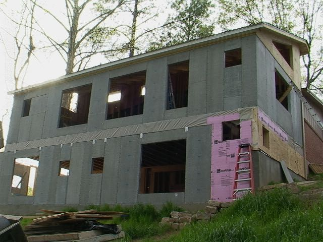 Concrete Structural Insulated Panels, SIP.  My addition from back in 2005.  Atlanta, Georgia.  Mega high R-20.