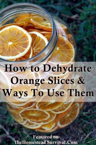 The Homestead Survival | How to Dehydrate Orange Slices  Ways to Use Them | http://thehomesteadsurvival.com