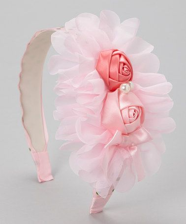 Take a look at this Pink  Green Polka Dot Rosette Headband by Tutus by Tutu AND Lulu on #zulily today!