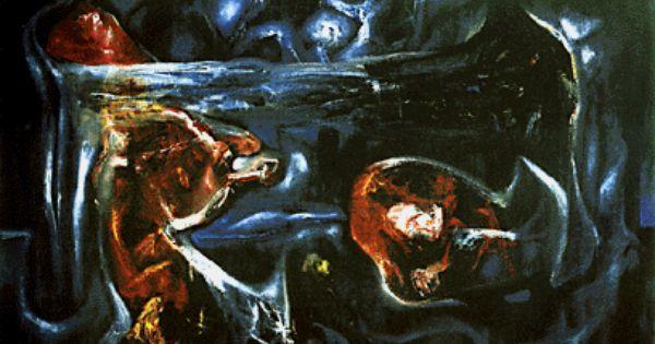 """Este obra, es uno de los mas famoso de Roberto Matta. Es el primer obra que el pinto en el estilo, abstracto. Es un adaptacion de el mas cocido escena """"Crucificon"""""""