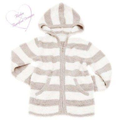 Amazon.co.jp: (ベアフット ドリームス)Barefoot Dreams R415 Bamboo Chic Striped Zip Hoodie for Rinka 梨花ライン ストライプ レディース パーカー Barefoot-R415-stone [並行輸入品]:...
