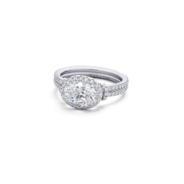 Oval-cut diamond engagement ring in platinum, price upon request, David Yurman