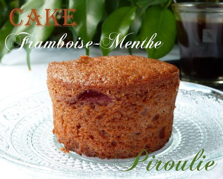 Cake aux framboises et à la menthe de Sophie Dudemaine