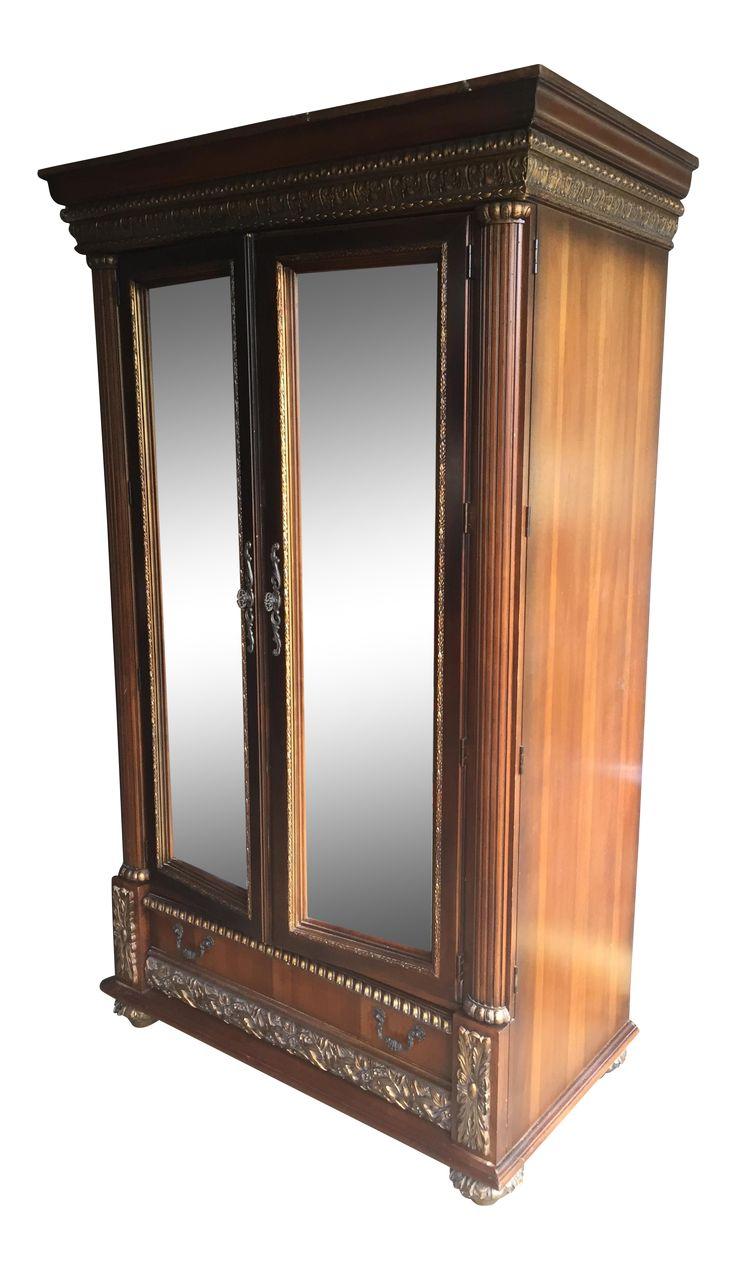Pulaski Furniture ARMOIRE mirrored doors Victorian