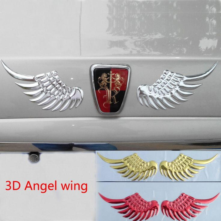 3D Angel Wings chrome car for emblem (tail, hood, trunk) http://ali.pub/1ftap5 Car styling (decoration)