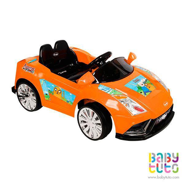 Auto a batería Lamborghini hora de aventuras color naranjo, $169.990 (precio normal). Marca Bebegló: http://bbt.to/1yVtpNF