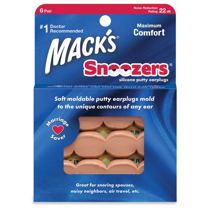 Buy Snoozers, Best Earplugs for Sleeping, Loud Noises, and Music including swimming | Macks Earplugs.