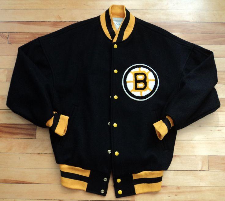 Vintage Boston Bruins Medium Letterman Jacket NHL VTG by StreetwearAndVintage on…