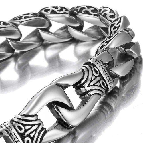 Amazing Stainless Steel Men's link Bracelet Silver Black 9 Inch Urban Jewelry http://www.amazon.com/dp/B00EHGAO22/ref=cm_sw_r_pi_dp_2vq9vb03YZB0X