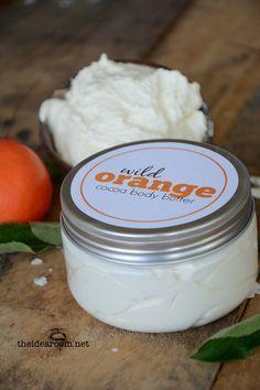 Wild Orange Body Butter Recipe | theidearoom.net