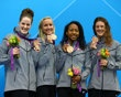 Missy Franklin, Jessica Hardy, Lia Neal and Allison Schmitt Bronze medals-Freestyle Relay Swimming