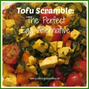 goodness gracious living: tofu scramble egg alternative recipe.  Vegan and gluten free!