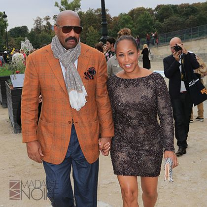 STEVE HARVEY While on stage during one of his standup acts, Harvey told a woman in the audience he would marry her one day and that he did. Harvey married his fan Marjorie Harvey in 2007.