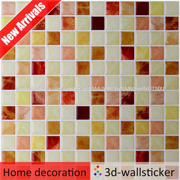 Sahte mozaik karo duvar paneli jel 3d banyo duvar karosu çıkartmaları