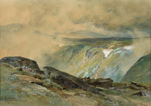 "fleurdulys: ""Mountain Landscape - Edward Theodore Compton """
