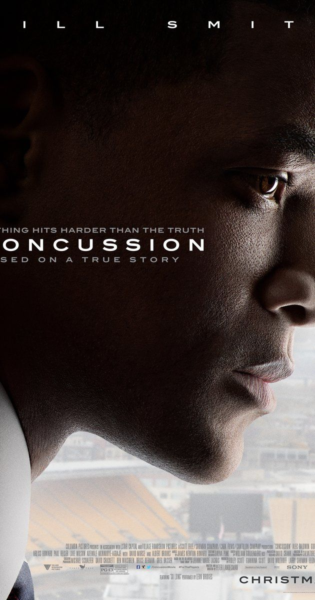 Directed by Peter Landesman.  With Will Smith, Alec Baldwin, Albert Brooks, David Morse. In Pittsburgh, accomplished pathologist Dr. Bennet Omalu uncovers the truth about brain damage in football players who suffer repeated concussions in the course of normal play.
