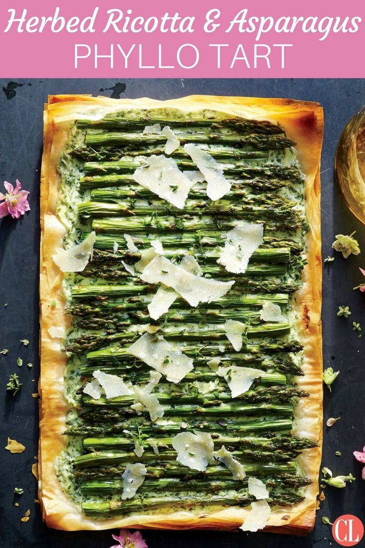 If working with phyllo dough fills you with fear, don't worry—this recipe is beginner-friendly. Perfectly roasted asparagus pairs with herbed ricotta for a fresh spring appetizer. | Cooking Light