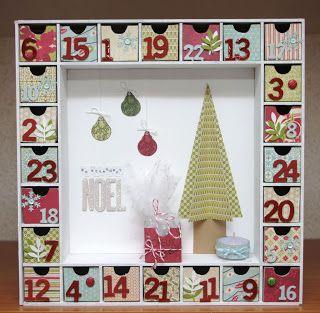 17 best images about calendrier de l 39 avent on pinterest - Calendrier de l avent en forme de sapin ...