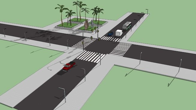 road cross - 3D Warehouse