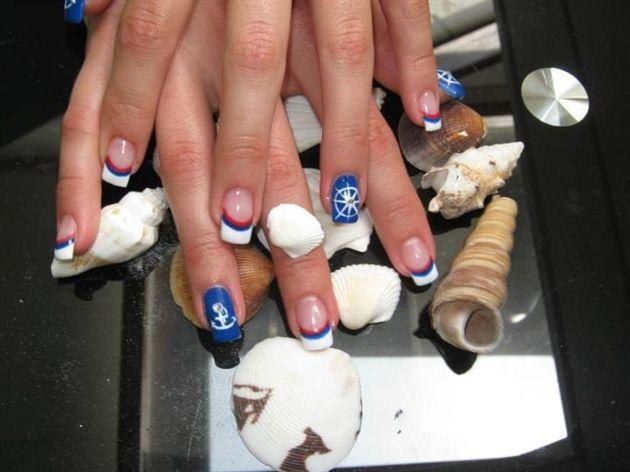 Ponad 25 najlepszych pomysw na pinterecie na temat marine nails summer nail anchor designs marine nails nail art gallery prinsesfo Images