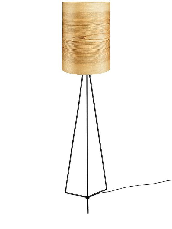 Floor Lamp JENS - Natural Ash Shade - Wood Floor Lamp - Unique Floor Lamp - Natural Art