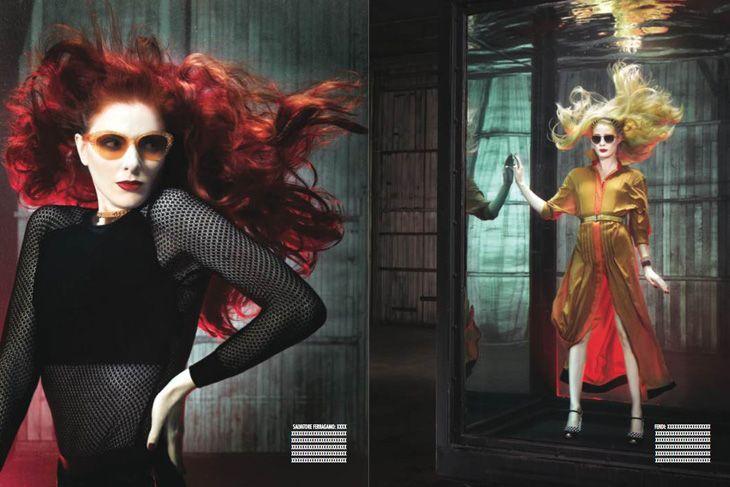 Lucy, Taylor Foster, Simon Sherry Wood e Taylor Bagley | Italian Vogue | by Douglas Friedman