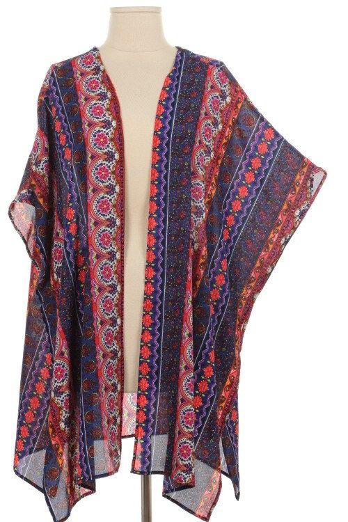 Kimono ethnique Tribal impression tissé Cardigan par nostalgicusa, $22.00