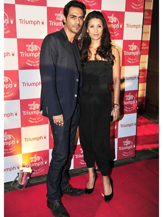 Arjun Rampal & Mehr Jessia #Bollywood #Fashion