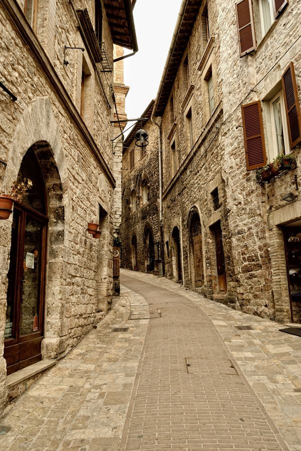 Assisi, Italy. I've been and I would LOVE to go back! I actually have a picture almost exactly like this.