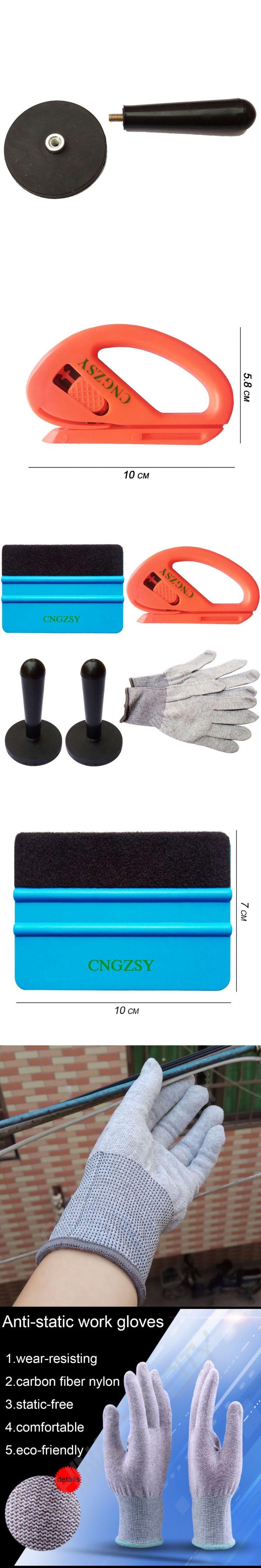 Car Wrap Tools Set 1PC 3M Squeegee 1PC Car Wrap Cutter 1 Pair Gloves 2PCS Car Wrap Magnet Holders Car Window Tint Film Tools K18