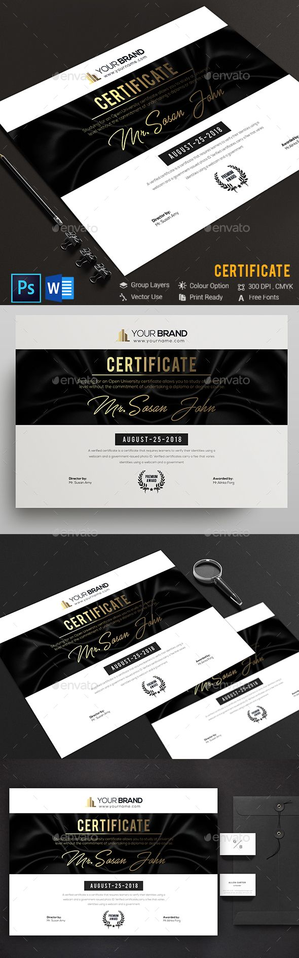 Certificate #certificate #certificate design  • Download here → https://graphicriver.net/item/certificate/20537199?ref=pxcr