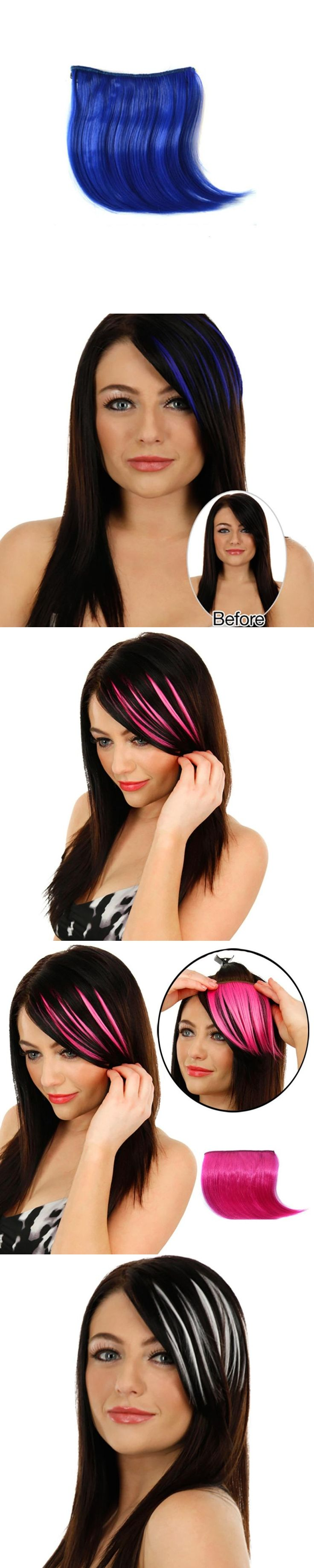 Pretty Girls Clip On Clip In Front Hair Bang Fringe Hair Extension Piece Thin  JUL07 dropship