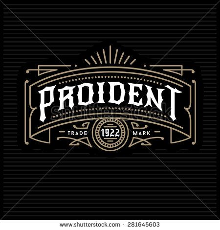 art deco vintage golden classic linear monochrome luxury hipster minimal geometric vector frame , border , label  for your logo, badge or crest - stock vector