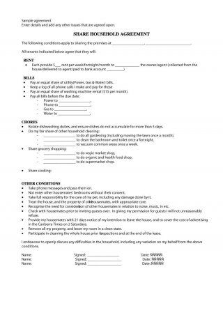 Download roommate agreement template 25
