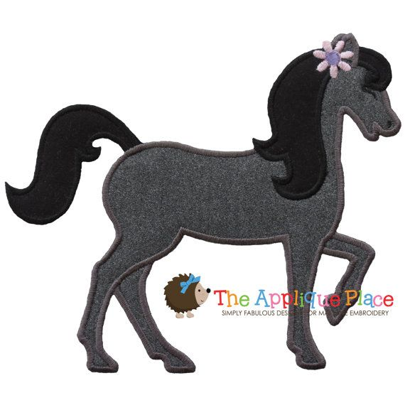 Horse 4 Machine Embroidery Applique Design by TheAppliquePlace, $4.00