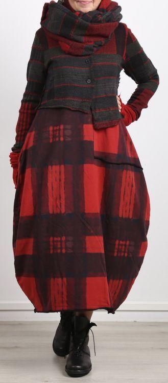 rundholz black label - Ballonkleid Cotton Stretch ärmellos red print - Winter 2018